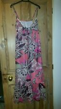 Next pink and peach floral print sequin trimmed summer maxi dress size 8