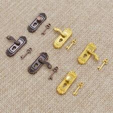 1/12 Maßstab Mini Türschloß Schlüssel Puppenhaus DIY Spielzeug Zubehör Vintage