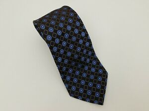 "Astor & Black Tie Mens Necktie 100% Silk, Brown Blue High End Luxury 60""x4"""