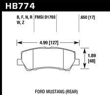 Disc Brake Pad Set-DTC-650 Rear Hawk Perf HB774G.650 fits 15-16 Ford Mustang