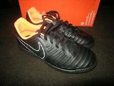 New Boys Black & Orange Nike Legenox 7 Club Jr Tennis Shoes, Size 4.5