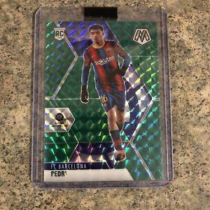 Pedri FC Barcelona La Liga Mosaic Soccer Green Prizm Rookie Card 🔥📈 Spain