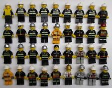 5 LEGO FIREMAN FIREMEN MINIFIGS FIGURES LOT city town random bulk w/ accessories