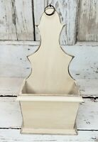 Aged Ivory Wood Primitive Candle Box - Reproduction