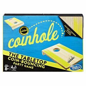 Hasbro Coinhole Table Top Coin Bouncing Party Game Cornhole