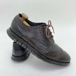 Cole Haan Zerogrand Brown Leather Wingtip Casual Oxford Shoes Mens Size 11.5 W
