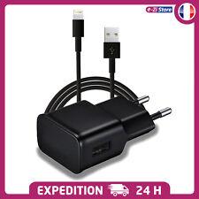 CABLE + CHARGEUR SECTEUR 2A USB PRISE ADAPTATEUR POUR iPHONE 7 7+ 6 6+ 5 iPAD 5