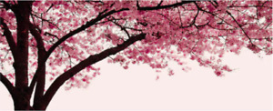 IKEA wall art 'Pjatteryd' BRAND NEW unopened canvas painting cherry blossom