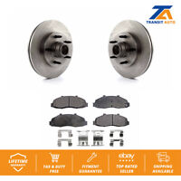 Front Disc Rotors And Hub Assembly & Semi-Metallic Brake Pads Fits Ford F-150