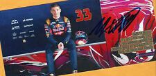 Max VERSTAPPEN - TOP Autogramm - Bild,(1) + Formel 1 Autogrammkarte - signiert