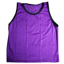 Adult Purple Scrimmage Training Vests Pinnie Uniform for Sports