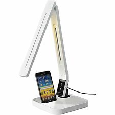 Lorell LED Desk Lamp w/Build In Docking Station f/Charging, WE 99770