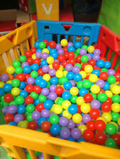 "Jumbo 3.15""(8cm) 1000PCS Soft Colorful Plastic Pit Ball Multiple Colour Balls"