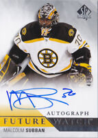 15-16 SP Authentic Malcolm Subban /999 Auto Rookie Future Watch 2015