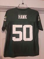 NFL Players AJ Hawk #50 Green Bay Packers Womens Size (Medium) Green Jersey NWOT