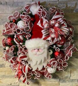 Türkranz Wandkranz / Deco Mesh *Weihnachtsmann Santa* Amerikanischer Stil