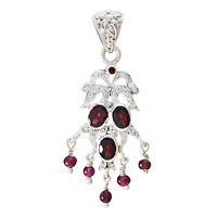 Granat 925 Sterling Silber rot Anhänger echte indische de Geschenk