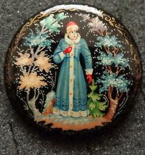 Russian wood Handpainted Pin Snowmaiden #9-22
