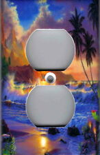 Tropical Ocean Sunset - Tropical Wall Decor Outlet Cover