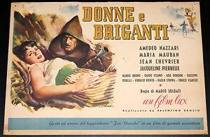 fotobusta disegnata film DONNE E BRIGANTI Amedeo Nazzari FRA DIAVOLO Olivetti