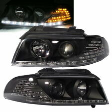 A4/S4 1994-2001 B5 8D Projector LED R8 HEADLIGHT w/Amber Black for AUDI Europen