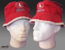Musto Rojo Yate VINTAGE Navegación Sombrero De Pescador Nuevo Con Etiqueta Cubo