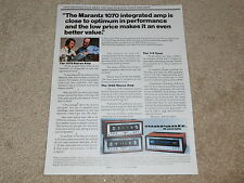 Marantz Ad, 1975, 1070, 1040 Amplifier, 112 Tuner, 1 page, Article, Info