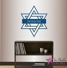 Vinyl Decal Star of David Shalom Any Room Removable Wall Mural Sticker 474