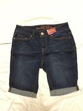 Faded Glory Women's 13 Inch Bermuda Blue Jean Shorts - Dark Wash - size 4