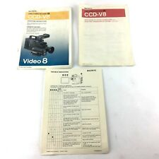 Sony CCD-V8 Video Camera Owners Manual