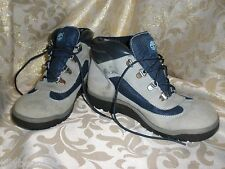 TIMBERLAND LT BLUE NUBUK SUEDE LEATHER  HIKING WORK STYLE ALPINE BOOTS  SIZE 6 M