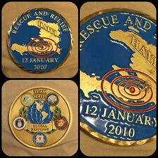 2010 TEAM HAITI RESCUE & RELIEF Global Response EARTHQUAKE 50mm CHALLENGE COIN
