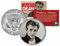 JAMES DEAN * Rebel Without A Cause - Leaning on Wall * JFK Half Dollar U.S. Coin
