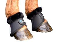 Shires Equestrian Arma Fur Trimmed Overreach Bell Boots Anti-Spin