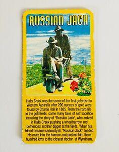 Russian Jack Magnet Halls Creek Goldfields Australia Souvenir Rare Vintage (K17)