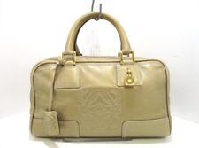 Auth LOEWE Amazona Gold Leather Handbag