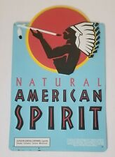 American Spirit Cigarette 100% Natural Tobacco Metal Tin Sign Blue 19 x 12 used