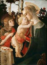 MADONNA AND CHILD, ST. JOHN BAPTIST, BOTTICELLI, RELIGIOUS, FRIDGE MAGNET