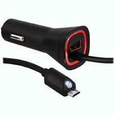 Original Rapid Dual Micro USB Car Charger OEM 2.1 AMP for Verizon Phones Light
