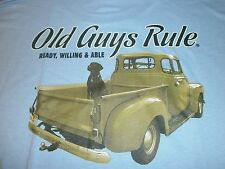 "Old Guys Rule Truck Ready ""Ready Willing And Able "" Black Lab S/S Size L"