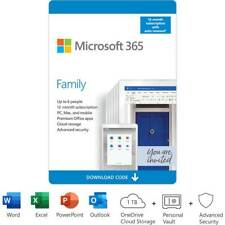 Microsoft 365 Family/Home 1 Year Subscription 6 Users Email Office 1Tb Storage