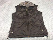 Mountain Hardwear Down Vest Women Sz M Textured Collar and Lining Puffy Blk GUC