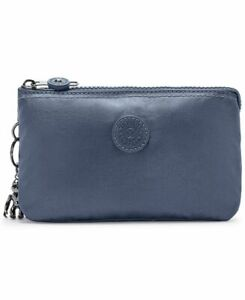 Kipling Creativity Large Metallic Pouch Midnight Frost