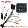 20Pin ISO Wiring Harness Connector w/Rear View Camera Adapter For Car Stereo DVD