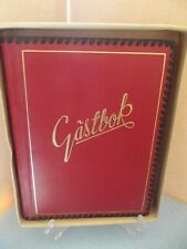 *Vintage * Swedish* Red / Black Trim ( Guestbook ) Gastbok *