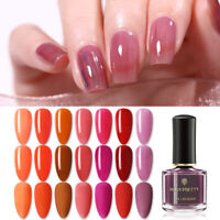 BORN PRETTY Jelly Nail Polish Semi-transparent Red Pinnk Nail Art Varnish Decor