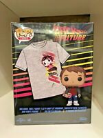 MARTY MCFLY EXCLUSIVE+TSHIRT LARGE FUNKO POP BACK TO THE FUTURE MICHAEL FOX #964