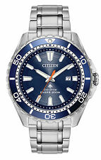 New Citizen Eco-Drive Promaster Divers Steel Bracelet Men's Watch BN0191-55L