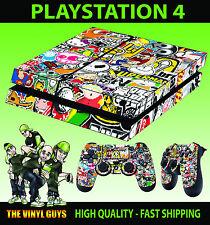 PS4 Skin Stickerbomb 002 Graffiti Cartoon Sticker + Pad decals Vinyl LAY FLAT