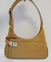 Salvatore Ferragamo Copper Canvas Leather Shoulder Bag w/ Tag $495rt